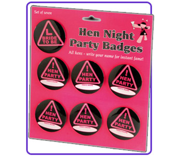 Hen Night Party Badges 2