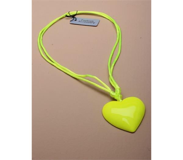 Large Neon Heart Pendant Necklace 2