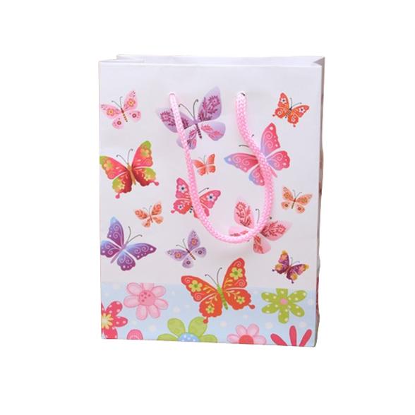 Butterfly Print Gift Bag - 23x18x10cm 3