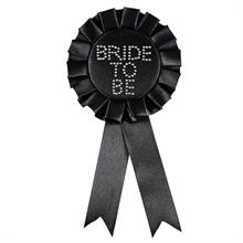 Bride To Be Black Rosette