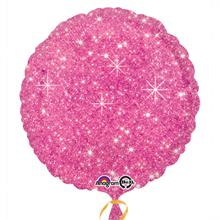 Faux Sparkle Hot Pink Standard Foil Balloon
