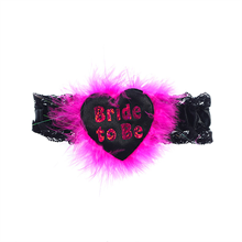 Sexy Bride to Be Garter on a Luxury Black Heart