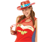 Wonder Woman Hat (Glitter Stetson)