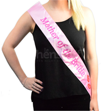 Flashing Mother of the Bride Sash - Pink