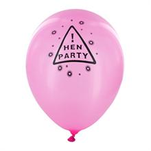Pink Hen Party Balloons (Twelve Pack)
