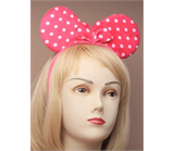 Dotty Fabric Mouse Ears Aliceband