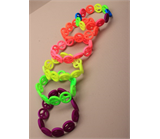 Neon Colour Peace Symbol Stretch Bracelet