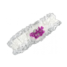 Flashing Bride to Be Garter - White
