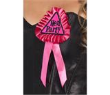 Pink Hen Party Rosette