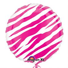 Pink Zebra Standard Designer Foil Balloon