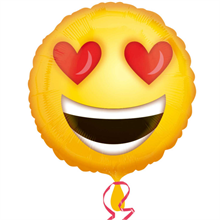 Love Emoticon Standard Foil Balloon