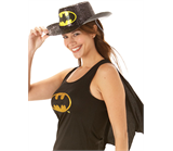 Batgirl Hat (Glitter Stetson)