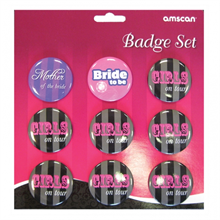 Hen Night Party Badge Set