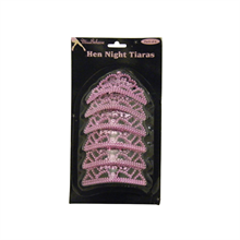 Pack Of 6 Mini Hen Party Tiaras