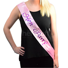 Flashing Hen Party Sash - Pink