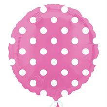 Bright Pink Dots Standard Foil Balloon