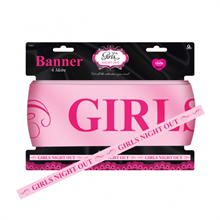 Girl's Night Out Satin Banner