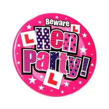 Jumbo Size Hen Party Badge