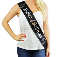 Black Diamante Mother-of-the-Groom Sash