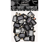 20 Black & Silver Party Poppers