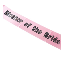 Miss Behave Mother of the Bride Sash
