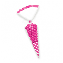Candy Buffet Cone Polka Dots Bags Bright Pink (10 Pack)