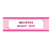 Girl's Night Out Giant Personalised Banner