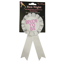 Bride To Be Rosette with Diamante