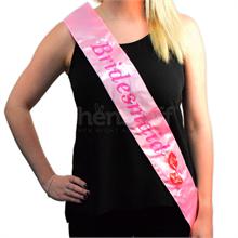 Flashing Bridesmaid Sash Pink