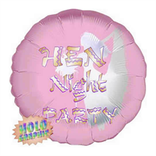 Hen Night Party Balloon Holographic