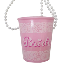 Hen Party Bride Shot Glass Necklace