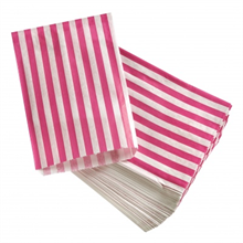 Candy Stripe Sweet Bag 27x11x7.5cm (10 Pack)